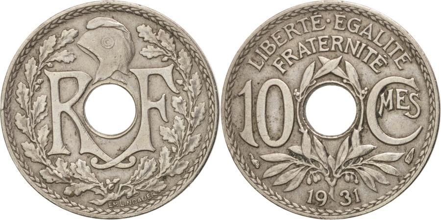 World Coins - France, Lindauer, 10 Centimes, 1931, , Copper-nickel,KM:866a,Gadoury286