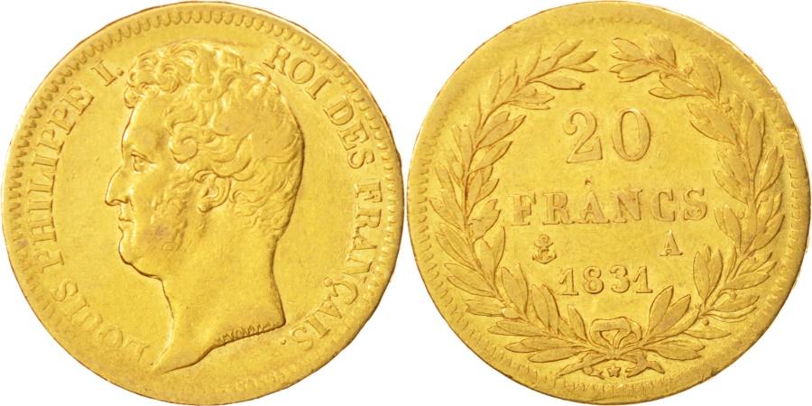 World Coins - France, Louis-Philippe, 20 Francs, 1831, Paris, , Gold, KM:746.1