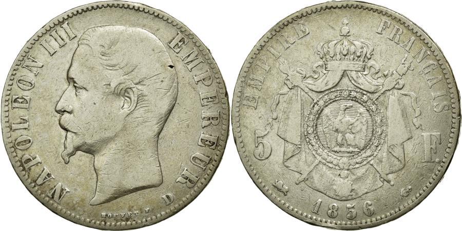 World Coins - Coin, France, Napoleon III, Napoléon III, 5 Francs, 1856, Lyon, VF(30-35)