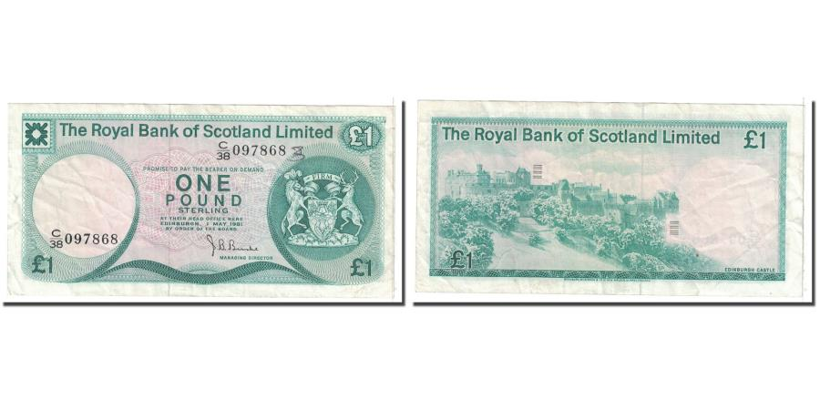 World Coins - Banknote, Scotland, 1 Pound, 1981, 1981-05-01, KM:336a, EF(40-45)