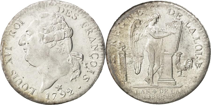 World Coins - FRANCE, Écu de 6 livres françois, ECU, 6 Livres, 1792, Lille, KM #615.14,