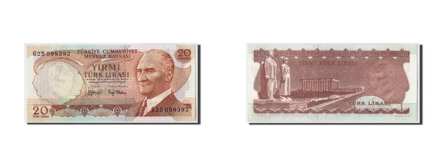 World Coins - Turkey, 20 Lira, L.1970, KM:187a, 1970-01-14, UNC(65-70)