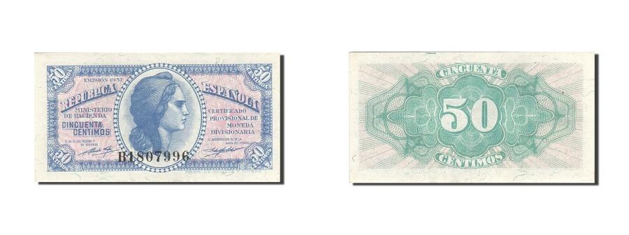 World Coins - Spain, 50 Centimos, 1937-1938, KM:93, 1937, UNC(63)