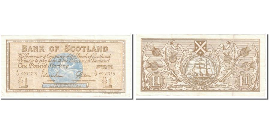 World Coins - Banknote, Scotland, 1 Pound, 1966, 1966-06-01, KM:105a, EF(40-45)