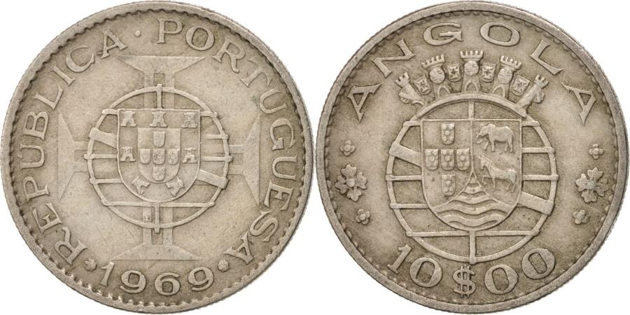 World Coins - ANGOLA, 10 Escudos, 1969, KM #79, , Copper-Nickel, 28.1, 8.94
