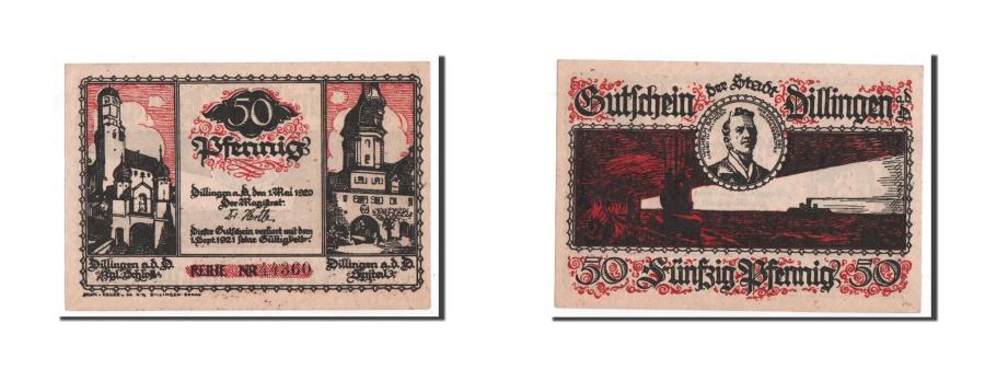 World Coins - Germany, Dillingen, 50 Pfennig, bateau, 1920, 1920-05-01, UNC(65-70), Mehl:274