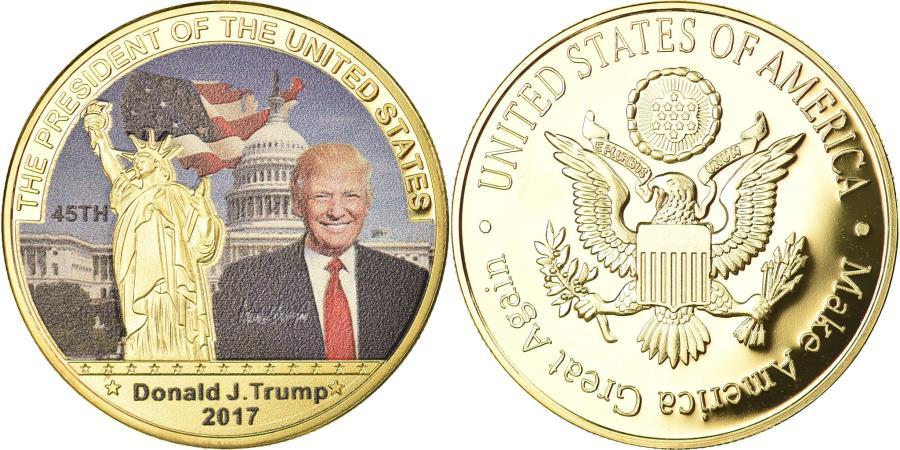 US Coins - United States of America, Medal, Les Présidents des Etats-Unis, Donald Trump