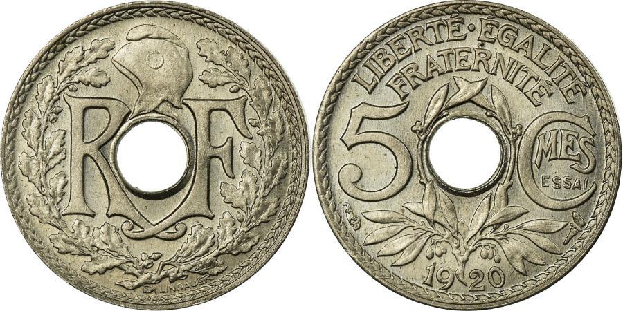 World Coins - Coin, France, Lindauer, 5 Centimes, 1920, ESSAI, , Copper-nickel, KM:875