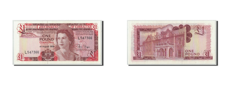 World Coins - Gibraltar, 1 Pound, 1988, 1988-08-04, KM:20e, UNC(65-70)