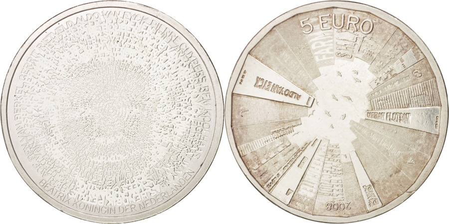 World Coins - Netherlands, 5 Euro, 2008, , Silver Plated Copper, KM:279a