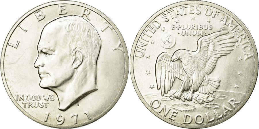US Coins - Coin, United States, Eisenhower Dollar, Dollar, 1971, U.S. Mint, San Francisco