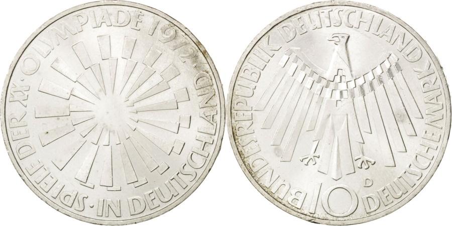 World Coins - GERMANY - FEDERAL REPUBLIC, 10 Mark, 1972, Munich, KM #130, , Silver,...