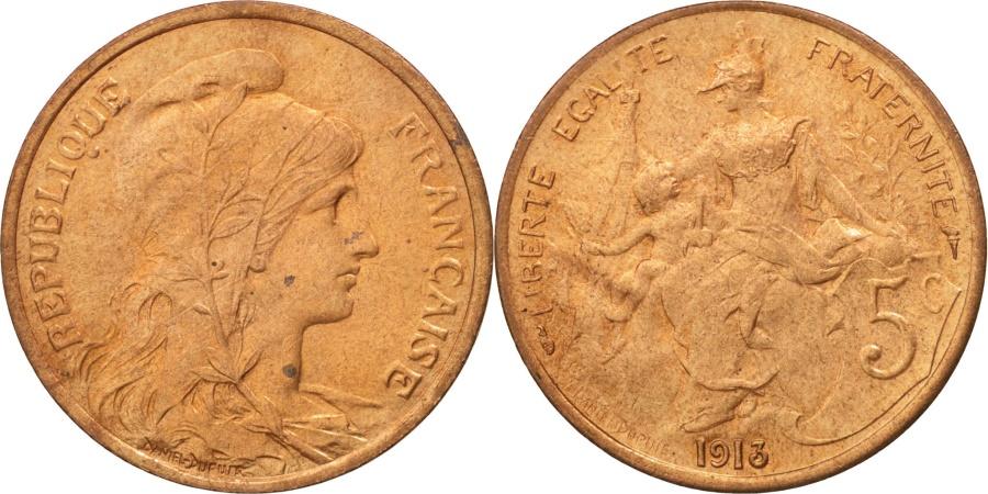 World Coins - France, Dupuis, 5 Centimes, 1913, Paris, , Bronze, KM:842, Gadoury:165