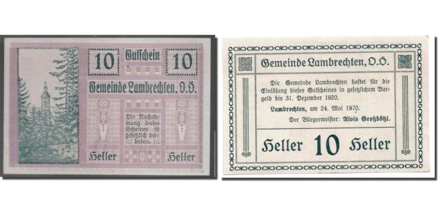 World Coins - Banknote, Austria, Lambrechten, 10 Heller, Eglise, 1920, 1920-05-24, UNC(63)