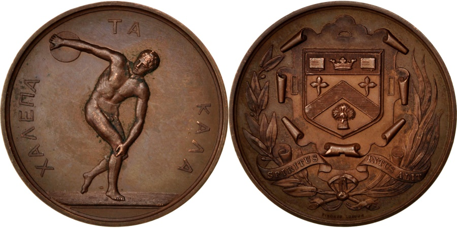 World Coins - Great Britain, Sports & leisure, Medal, , Bronze, 44, 36.00