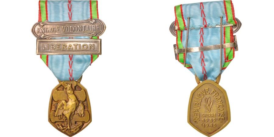World Coins - France, Médaille commémorative de 1939-1945, Medal, 1946, Excellent Quality
