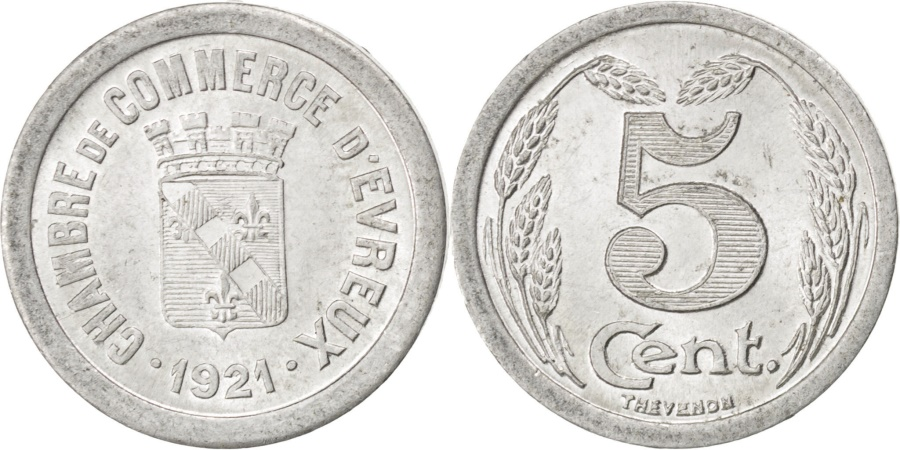 World Coins - France, 5 Centimes, 1921, , Aluminium, Elie #10.1, 0.88