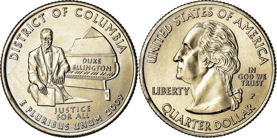 US Coins - Coin, United States, District of Columbia, Quarter, 2009, U.S. Mint