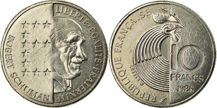 World Coins - Coin, France, Schumann, 10 Francs, 1986, , Nickel, KM:958, Gadoury:825