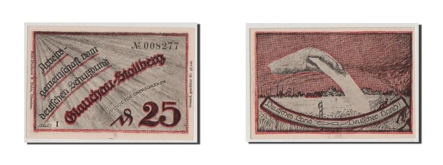 World Coins - Germany, Glauchau Stadt, 25 Pfennig, UNC(64), 008277, Mehl #433.1