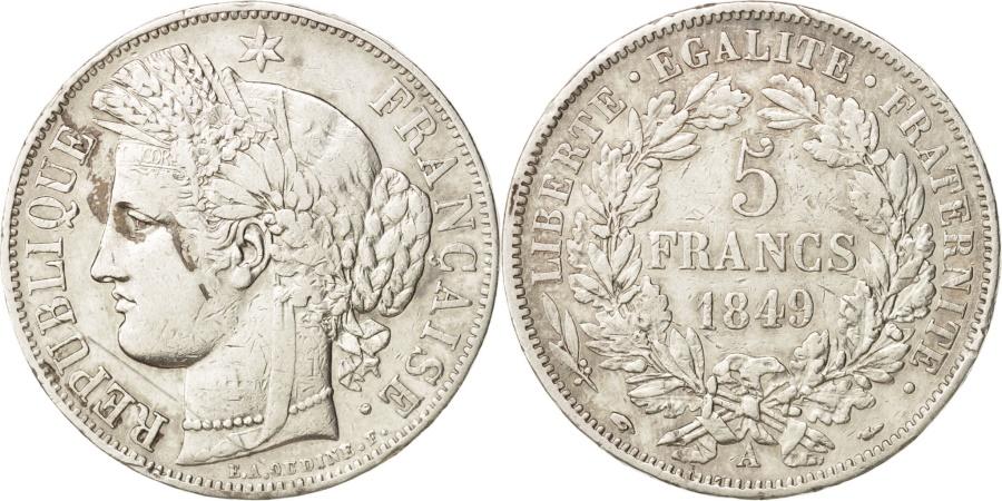World Coins - France, Cérès, 5 Francs, 1849, Paris, , Silver, KM:761.1, Gadoury:719