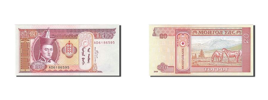 World Coins - Mongolia 20 Tugrik KM:63c  UNC(65-70) AD 6186595