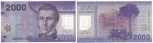 Chile, 2000 Pesos, 2009, KM:162, AU(50-53)