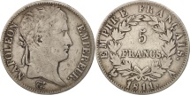 World Coins - France, Napoléon I, 5 Francs, 1811, Paris, VF(20-25), Silver, KM:694.1