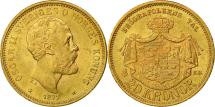 World Coins - Coin, Sweden, Oscar II, 20 Kronor, 1877, AU(55-58), Gold, KM:744