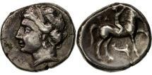 Ancient Coins - Calabria, Tarentum, Didrachm or Nomos, EF(40-45), Silver, HN Italy:1098