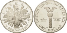 Us Coins - United States, Dollar, 1989, U.S. Mint, San Francisco, MS(63), Silver, KM:225