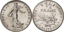 France, Semeuse, 1/2 Franc, 1975, Paris, MS(65-70), Nickel, KM:931.1