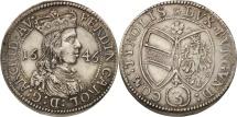 World Coins - Austria, Ferdinand Charles, 3 Kreuzer, 1646, Hall, MS(60-62), Silver, KM:852