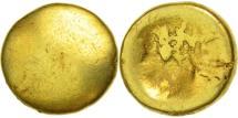 Senones, Globular 1/4 Stater, EF(40-45), Gold, Delestrée:manque
