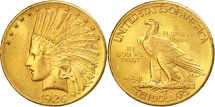 Us Coins - United States, Indian Head, $10, 1926, Philadelphia, AU(50-53), Gold, KM:130