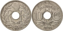 France, Lindauer, 10 Centimes, 1934, AU(50-53), Copper-nickel, KM:866a