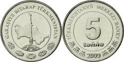 World Coins - Coin, Turkmanistan, 5 Tenge, 2009, , Nickel plated steel, KM:97