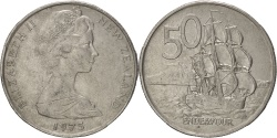 World Coins - NEW ZEALAND, 50 Cents, 1975, KM #37.1, , Copper-Nickel, 31.75, 13.66