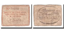 World Coins - France, 5 Sous, Undated (1791-92), NIMES, VF(30-35)