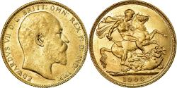 World Coins - Coin, Australia, Edward VII, Sovereign, 1908, Sydney, , Gold, KM:15