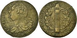 World Coins - Coin, France, Louis XVI, 2 sols françois, 2 Sols, 1792, Paris,