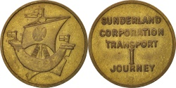 Us Coins - United States, Token, Sunderland Corporation Transport