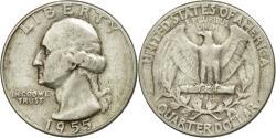 Us Coins - Coin, United States, Washington Quarter, Quarter, 1955, U.S. Mint, Philadelphia
