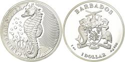World Coins - Coin, Barbados, Hippocampe, Dollar, 2018, Franklin Mint, Proof,