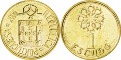 World Coins - PORTUGAL, Escudo, 2000, KM #631, , Nickel-Brass, 16, 1.72