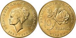 World Coins - Coin, Monaco, Princesse Grace, 10 Francs, 1982, ESSAI,