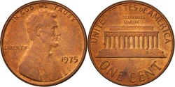 Us Coins - United States, Lincoln Cent, 1975, Philadelphia, , KM:201