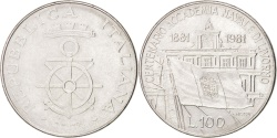 World Coins - ITALY, 100 Lire, 1981, Rome, KM #108, , Stainless Steel, 27.8, 8.00