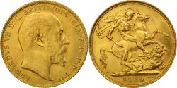 World Coins - Coin, Australia, Edward VII, Sovereign, 1910, Sydney, , Gold, KM:15
