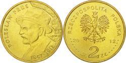 World Coins - Coin, Poland, Boleslaw Prus, 2 Zlote, 2012, Warsaw, , Brass, KM:838